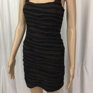 Free People Black Brown Dress